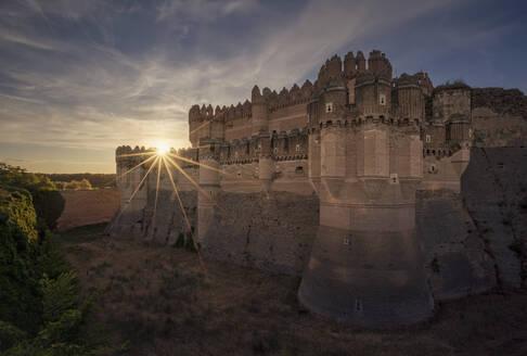 Castle of Coca, Coca, Segovia, Spain. Spanish Mudejar brickwork, constructed 15th century. - DVG00060