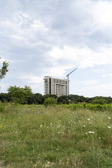Construction site of a high-rise buidling in the countryside - AFVF03898