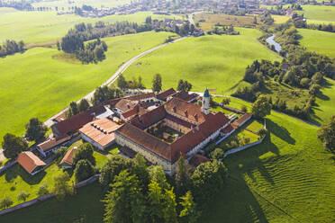 Aerial view of Kloster Reutberg at Sachsenkam, Germany - LHF00712