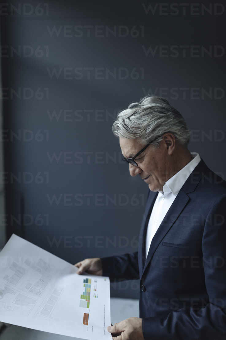 Senior businessman looking at papers - GUSF02608 - Gustafsson/Westend61