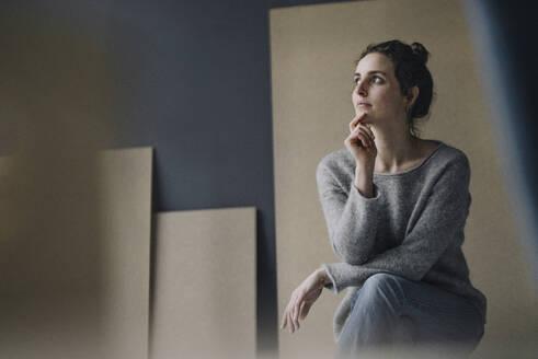 Portrait of pensive young woman - KNSF06577