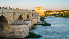 Roman Bridge, UNESCO World Heritage Site, over Guadalquivir River, Cordoba, Andalucia, Spain, Europe - RHPLF10423