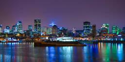 Skyline by night, Montreal, Quebec, Canada, North America - RHPLF10697