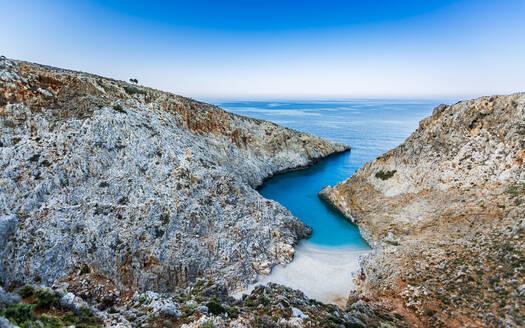 Seitan Limania Beach, Akrotiri, Crete, Greek Islands, Greece, Europe - RHPLF11075