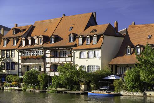 Houses of Klein Venedig (Little Venice), Bamberg, UNESCO World Heritage Site, Bavaria, Germany, Europe - RHPLF11105