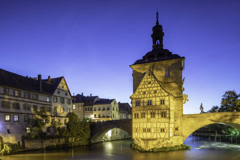 Altes Rathaus (Old Town Hall) at dusk, Bamberg, UNESCO World Heritage Site, Bavaria, Germany, Europe - RHPLF11108
