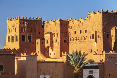 Kasbah Taourirt, Ouarzazate, Road of Kasbahs, Atlas Mountains, Southern Morocco, Morocco, North Africa, Africa - RHPLF11366
