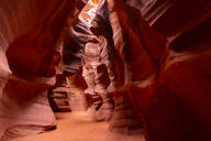 Antelope Canyon, Navajo Tribal Park, Page, Arizona, United States of America, North America - RHPLF11429
