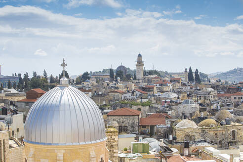 View of the Old City, UNESCO World Heritage Site, Jerusalem, Israel, Middle East - RHPLF11866