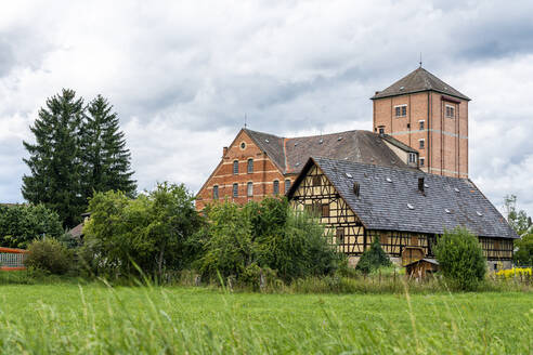 Old brick and half timbered building, Hahn Mill, Baden-Wurttemberg, Germany - STSF02255