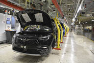 Modern automatized car production in a factory - LY00914