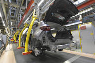 Modern automatized car production in a factory - LY00935