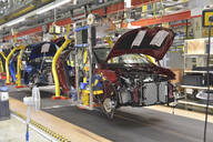Modern automatized car production in a factory - LY00953