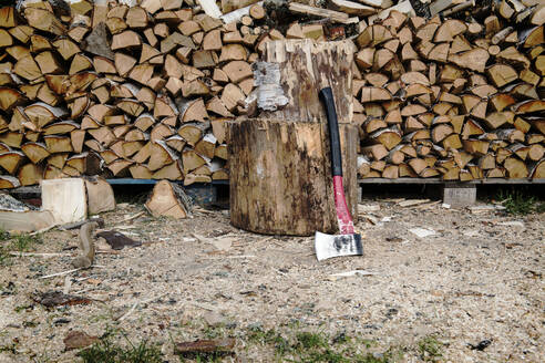 Stack of wood - JOHF01297