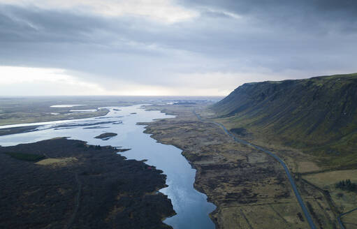 Iceland, Aerial view of Jokulsarlon lake - DAMF00064