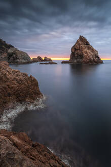 Spain, Girona, Tossa de Mar, Costa Brava at dawn - XCF00251
