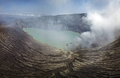 Indonesia, Java, aerial view of Ijen volcano - KNTF03529