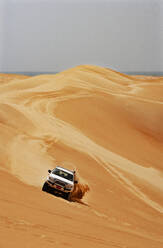 Sultanate Of Oman, Wahiba Sands, Dune bashing in a SUV - WWF05302