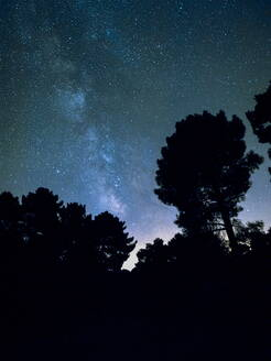 Long time exposure night landscape with Milky Way Galaxy - CAVF63733