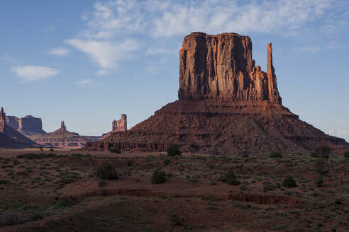 Sunset view at Monument Vally, a famous road trip stop in Arizona. - CAVF64543