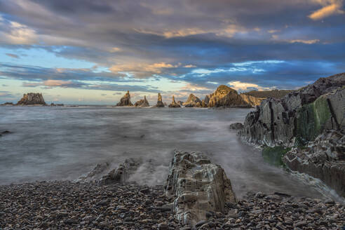 Sunset in Gueirua Asturias (Spain) - CAVF64822