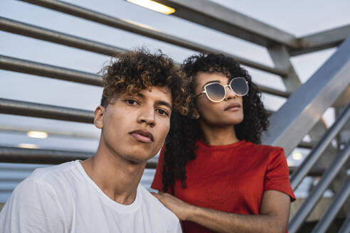 Portrait of a cool young couple in the city - RCPF00076