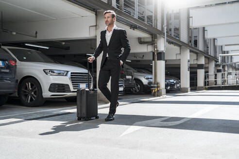Businessman with baggage on the go - DIGF08512