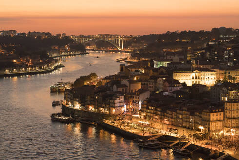 Panoramic view of Porto at sunset, Portugal - AHSF00858