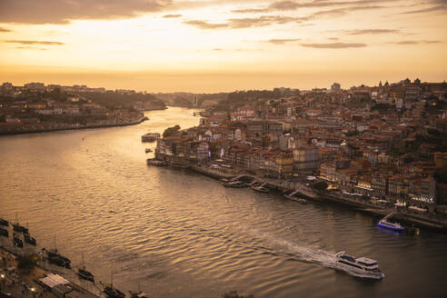 Panoramic view of Porto at sunset, Portugal - AHSF00867