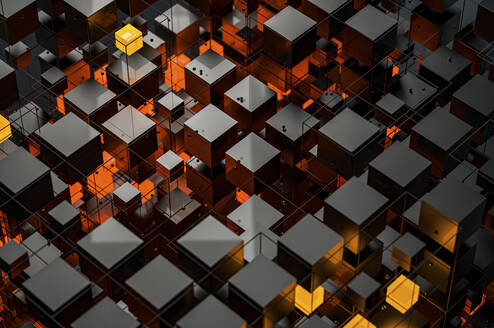 Abstract structures of illuminated cubes - JPF00405