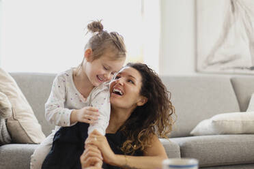 Happy mother and daughter together - JOHF03259