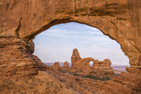Sunset in the Windows District at Arches National Park, Utah. - CAVF65405