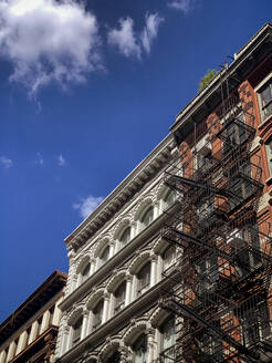 NYC, New York,/United States - Sept, 25, 2019: View of City Streets in Tribeca Neighborhood of New York City - CAVF65425