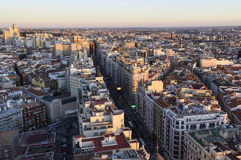 skyline of the Gran Via street of city of Madrid - JCMF00245