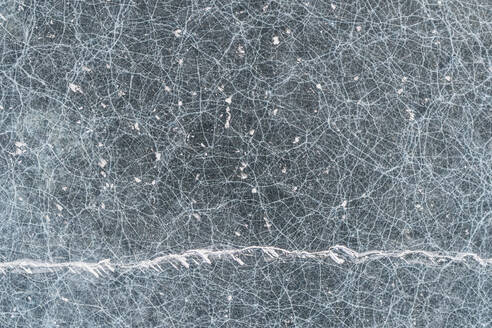 Infinite textures and cracks of baikal ice from aerial view - CAVF65642