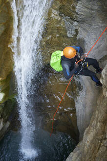Canyoning Gorgol Canyon in Pyrenees. - CAVF65842