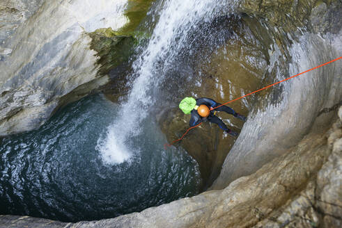 Canyoning Gorgol Canyon in Pyrenees. - CAVF65845