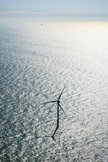 Wind turbine in offshore wind farm in the Borselle windfield, aerial view, Domburg, Zeeland, Netherlands - ISF22647