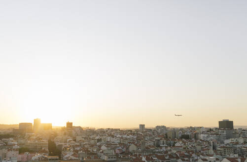Panoramic view of the city at sunset, Lisbon, Portugal - AHSF00994