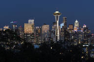 Seattle skyline at sunset, Seattle, Washington State, United States of America, North America - RHPLF12476