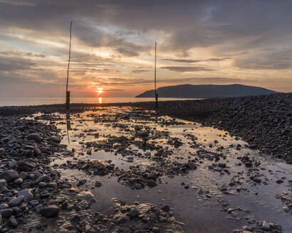 Porlock Weir at sunrise, Porlock, Somerset, England, United Kingdom, Europe - RHPLF12497