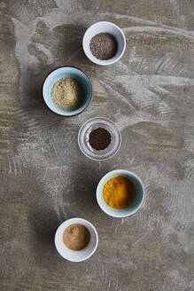 Spices in bowls - JOHF04639