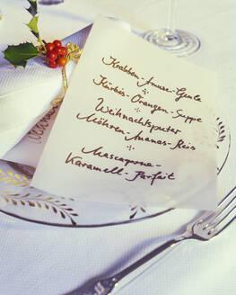 Handwritten menu card - PPXF00289
