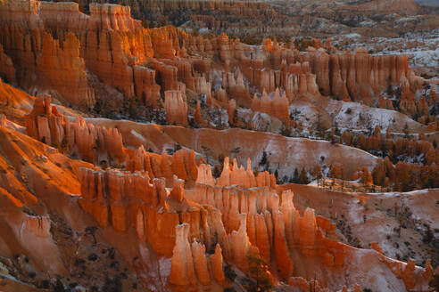 High angle scenic view of rock formations at Bryce Canyon National Park - CAVF67876