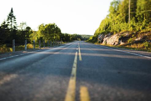 Empty road in Algonquin Provincial Park, Ontario, Canada - GIOF07427