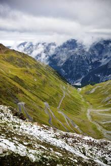 WInding road, Stelvio Pass, Trentino-Alto Adige, Italy - GIOF07433