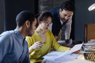 People working together in architect's office - SODF00195
