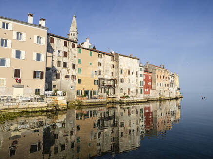 The Old Town with reflections early morning, Rovinj, Istria, Croatia, Europe - RHPLF12641