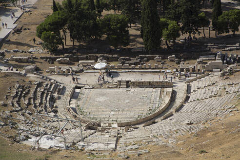 Theatre of Dionysos (Dionysus), Acropolis, UNESCO World Heritage Site, Athens, Greece, Europe - RHPLF12774