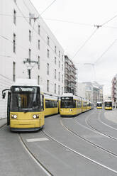 View of trams in the city, Berlin, Germany - AHS01354